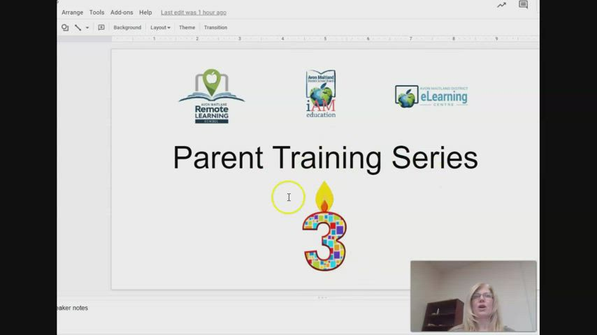 Parent Training Series #2 - Content and Assignments